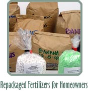Repackaged Fertilizers for Homeowners
