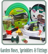 Garden Hoses, Sprinklers & Fittings