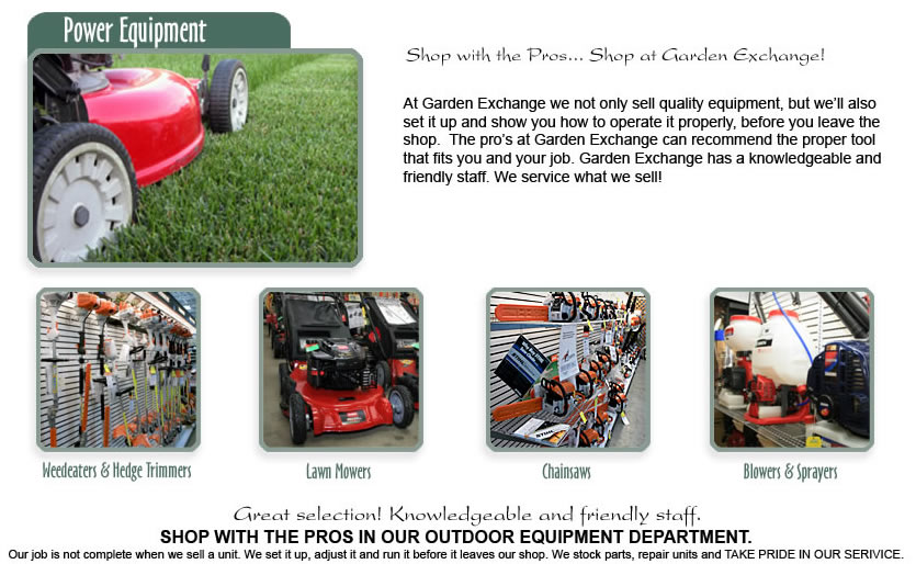 Power Equipment - Garden Exchange - Hilo, Hawaii ...